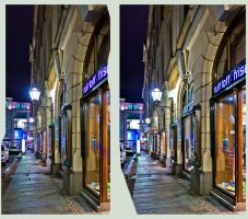 Downtown Leipzig: Cross Eye 3D by zour