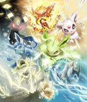 Eeveelutions: This is War 2 by lunasnightmare
