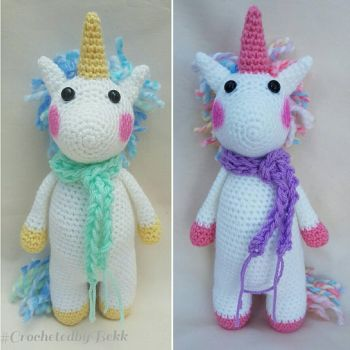 Unicorns!  by CrochetedbyBekk