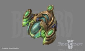 SC2: Protoss Assimilator by PhillGonzo