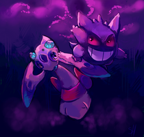 Froslass n Gengar Duo by salanchu
