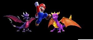 Mario and two dragons by maranic