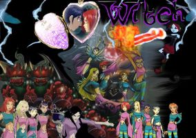 W.I.T.C.H- Black Star Wallpaper by IcyPansy
