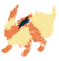 Flareon Paint Splatter Graphics by HollysHobbies