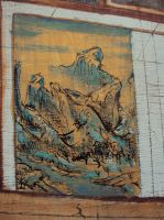 Chinese Autumn Mini Painting by MikeBourbeauArt