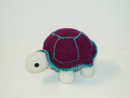 Plum the Turtle by Heartstringcrochet