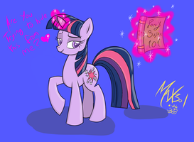 Twilight Sparkle With Mysterious book #2 by max301
