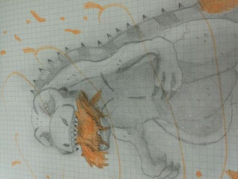Uhhhhhh -- middle school drawing by AtomicRex
