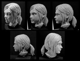 The last of us Ellie sculpt. by Leebea