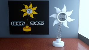 Sunny clock by pixel4life