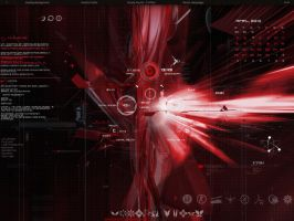 my desktop red by Burnwell88