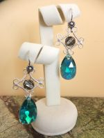Sea Drop Earrings by Galuorwen