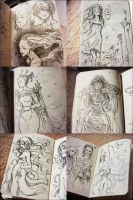 Ink Pen Sketches. by Qinni