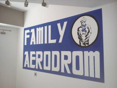 Wall painting by me - FAMILY AERODROM by SarkaArslan