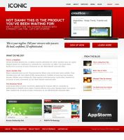 Iconic Template - HTML,CSS,Red by escapepodone