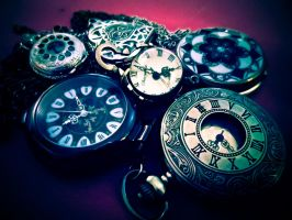 My collection of pocket watches by redcatmoonlight
