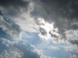 Sky with Clouds and Sunbeams by Dygyt-Alice