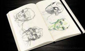 Sketchbook 02.09.2015 Character Faces by SteelStrugglin