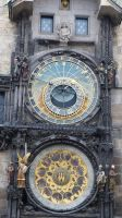 Sun, moon and star clock at the city hall Prague by andersvolker
