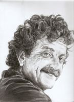 Kurt Vonnegut by Jules89