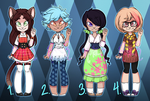 .:Adoptables! Pt. 2 (OPEN):. by RingetteChic7