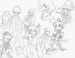 My collection of sketches by taku-taki