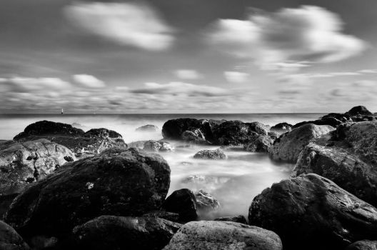 Rocks ... Clouds and Sea by abhishek82