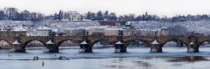 Charles Bridge in Winter by hombre-cz