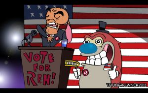 Ren for president by toongrowner