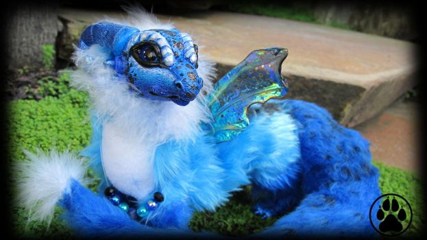 SOLD Dendro the baby poison dart dragon art doll! by CreaturesofNat