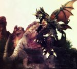 Godzilla Jr. vs Destroyah for Legrandzilla by sarcophagus6
