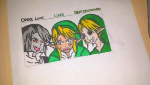 Link,Dark Link and..BEN by ImMoonwalker