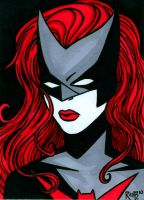 Sketchcard Batwoman by RichBernatovech