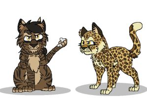 Tigerstar and Leopardstar by Blixemi