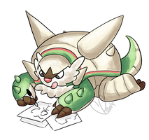 Chesnaught Doodles by SometimesCats