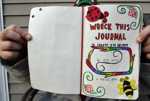 Wreck This Journal: Front Page. by HeavenlyWitchx