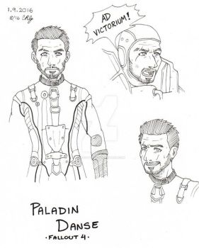 Fallout 4: Paladin Danse sketches by Winds-Blade