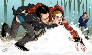 Sterek Calendar project day 1 by Slashpalooza