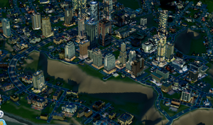 (SimCity 2013) Minos'Drakon from the air by Spacer176