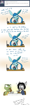 Ask the Characters 03: slow days by Sandwich-Anomaly
