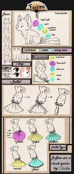 FoxFan Species Guide (Closed Species) + F.A.Q by Belliko-art