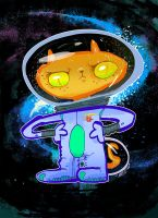 astronaut cat by quick2004