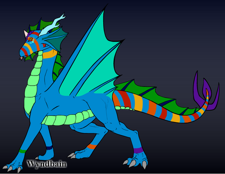 Cerulean spectrum dragon by DSPACE1995