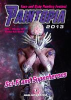 Paintopia pink space alien bodypaint  Cat Finlayso by Bodypaintingbycatdot