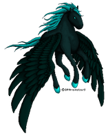 Black Pegasus - Pixel Practice by DPA-avatars