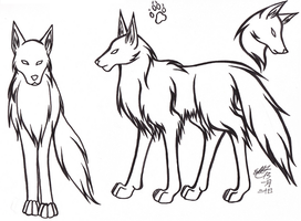 Basic Wolf Reference Sheet by Dunrosiel