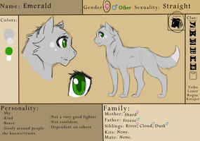 OC Reference: Emerald by RiverSpirit456