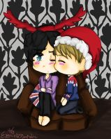 Johnlock Christmas~ by ThePastelHobbit