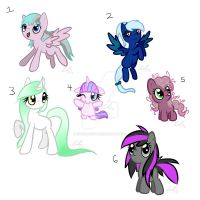 Pony Adoptables Batch 1 - Closed by KitsuneNight