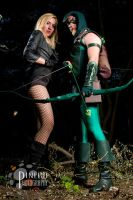 Green Arrow and Black Canary by Gotham-Knight